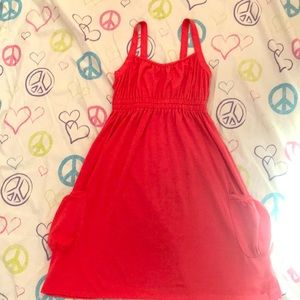 Bright orange kids summer dress